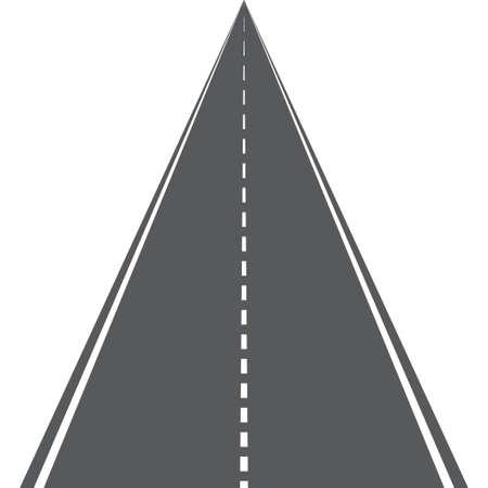 Vector road or highway with markings on white background Ilustración de vector