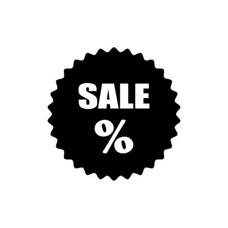 Percentage vector icon. Sale icon isolated on white background