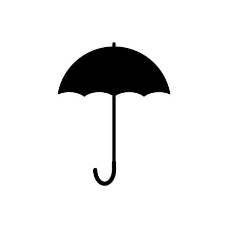 Umbrella vector icon isolated on white background Vectores