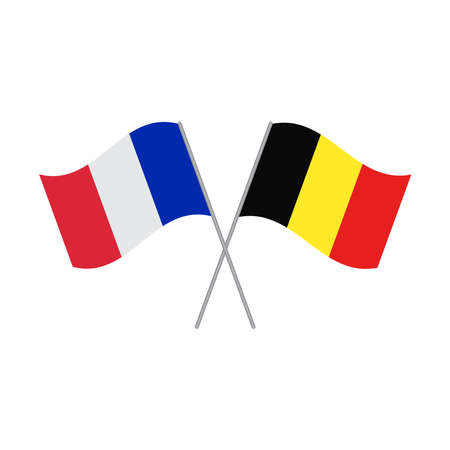France and Germany flags vector isolated on white background