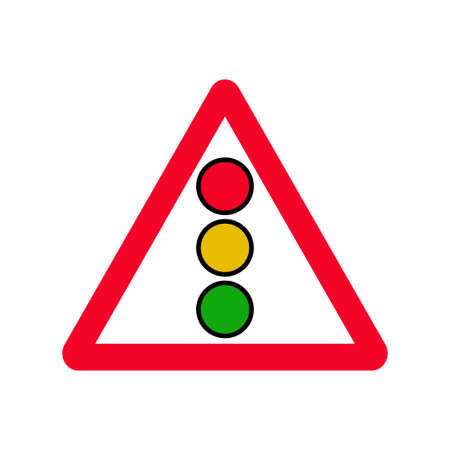 Traffic light sign vector isolated on white background