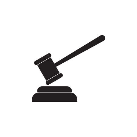 Gavel vector icon isolated on white background