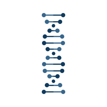 dna vector icon isolated on white background Ilustrace