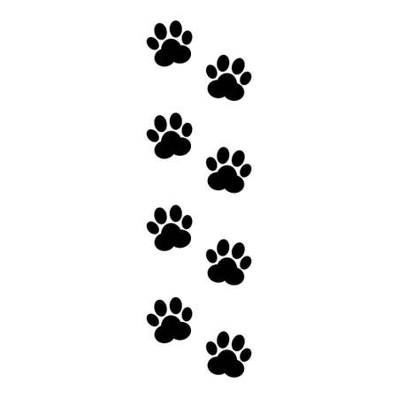 Paw print vector isolated on white background