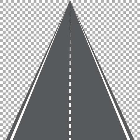 Gerade Straße isoliert, Autobahn-Vektor-Illustration Vektorgrafik