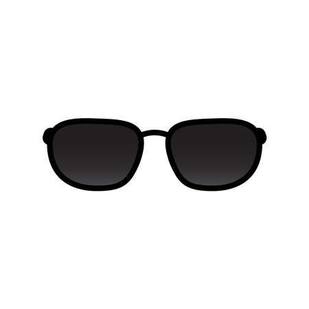 Sunglasses icon vector isolated on white background Ilustração