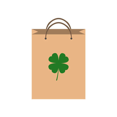 Eco bag icon. Paper bag isolated on white background Illustration