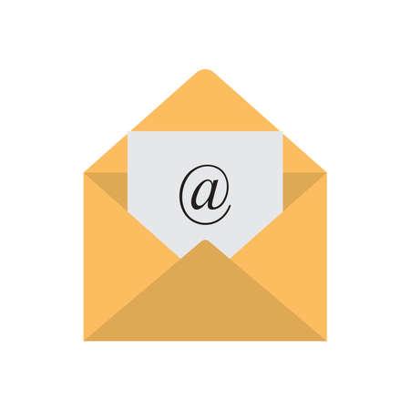 E-Mail-Symbol. Mail-Umschlag-Vektor-Symbol isoliert auf weißem Hintergrund Vektorgrafik