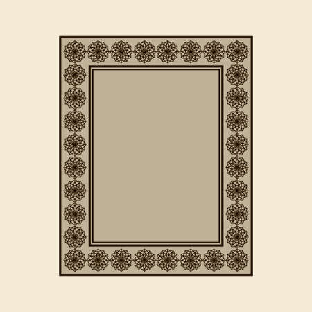 Vector ornamental frame. Vector vintage border frame Иллюстрация
