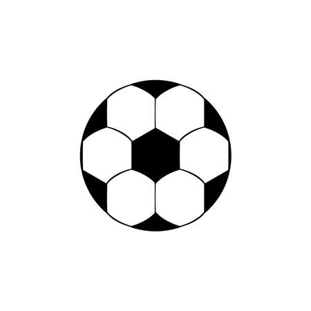 Football icon vector isolated on white background. Soccer ball icon Ilustração