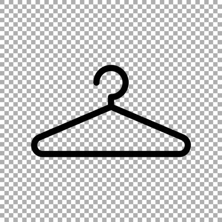 Clothes hanger. Hanger icon vector isolated