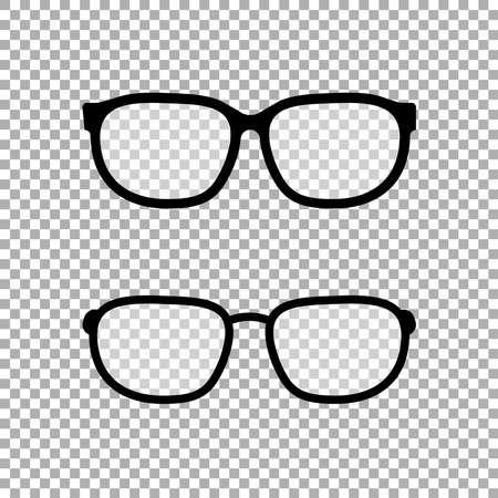Brillensymbolvektor isoliert auf transparentem Hintergrund