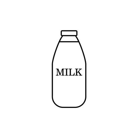 Milk bottle icon vector isolated on white background. Bottle of milk icon