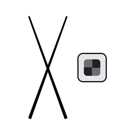 Sushi icon vector isolated on white background