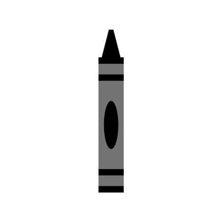 Crayon icône vecteur isolé sur fond blanc