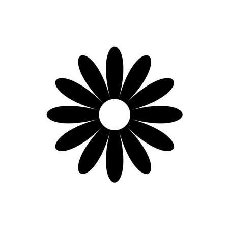Daisy chamomile vector icon isolated on white background