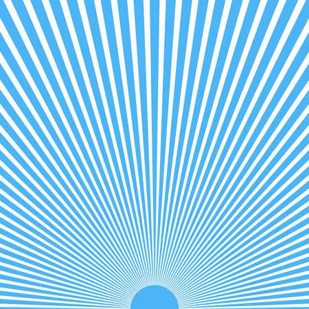 Sun rays vector. Abstract blue sun rays background Ilustração