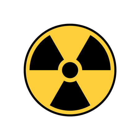 Radioactive sign vector icon isolated on white background