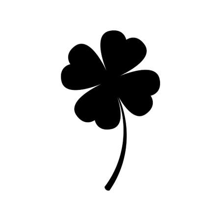 Four leaf clover icon vector isolated on white background Illustration