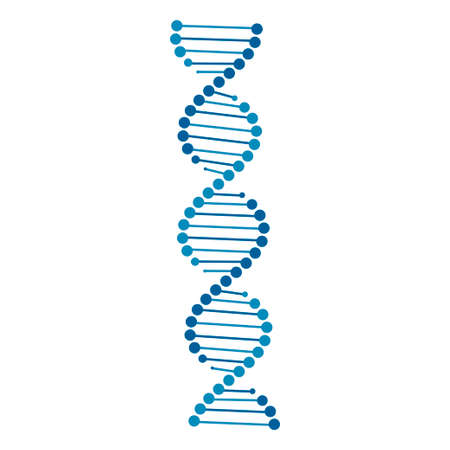 dna icon vector isolated on white background