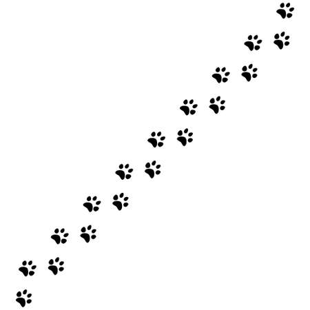 Paw print vector icon isolated on white background