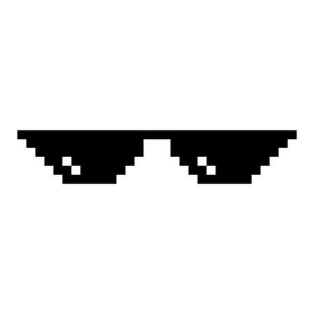 Pixel art glasses isolated on white background Vector Illustratie
