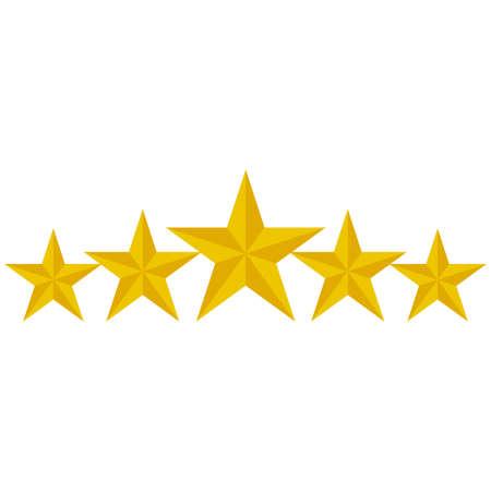 Bewertungssterne Vektorsymbol isoliert auf weißem Hintergrund