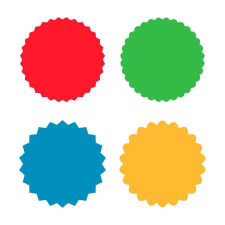 Set of sunburst badges, labels, stickers vector icon 矢量图像