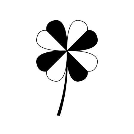 leaf clover icon vector isolated on white background