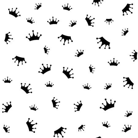 Crown seamless pattern, vector illustration