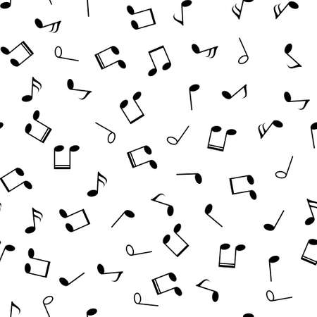 Music notes seamless pattern. Vector illustration