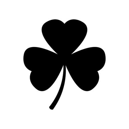 Shamrock vector icon on white background. Clover leaf icon