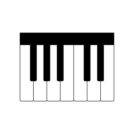 Piano keyboard icon vector on white background