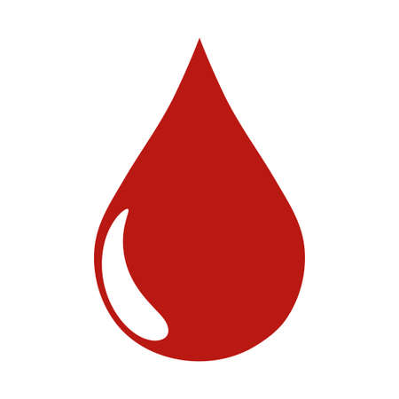 Blood drop icon vector isolated on white background Çizim