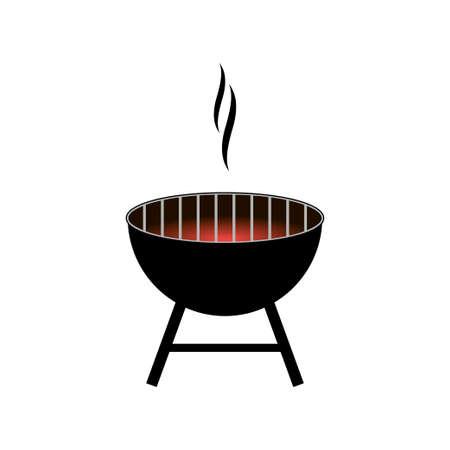 Wektor grill grill ikona na białym tle Ilustracje wektorowe