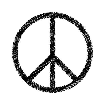 Vector peace symbol icon isolated on white background