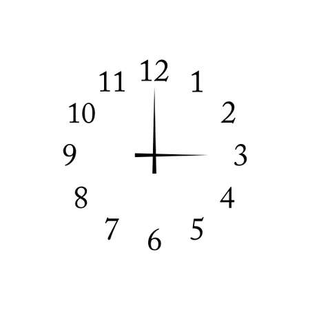 Clock icon vector isolated on white background Çizim