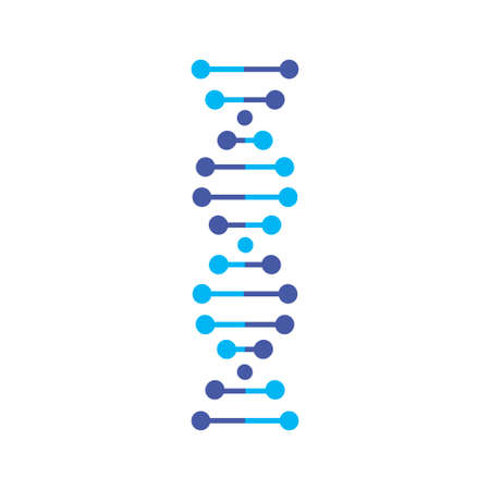 DNA vector icon isolated on white background
