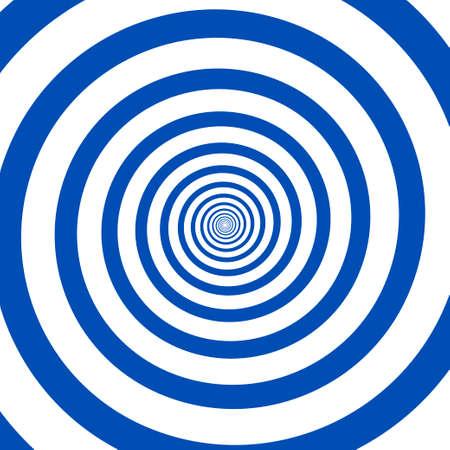 Espiral psicodélica con rayos radiales. Vector espiral hipnótico