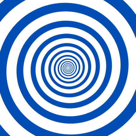 Psychedelic spiral with radial rays. Hypnotic spiral vector