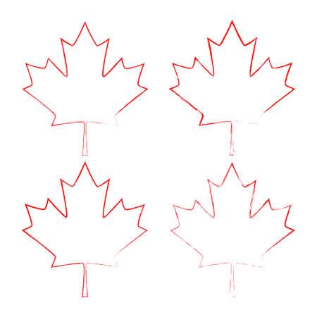 Maple leaf vector. Canada symbol maple leaf icon Ilustração