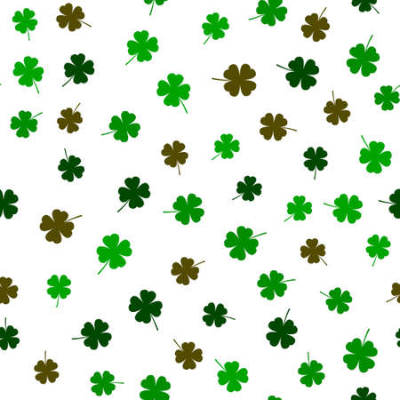 Clover leaf seamless pattern vector illustration