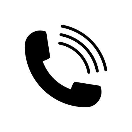Phone icon vector. Handset icon isolated on white background