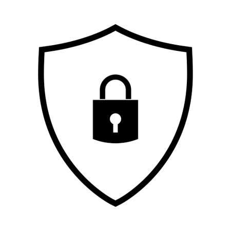 Abstract security vector icon illustration isolated on white background