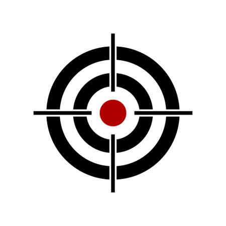 Shooting target vector icon isolated on white background