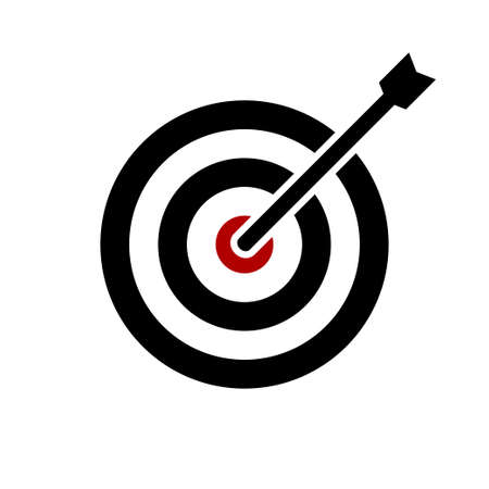 Shooting target vector icon isolated on white background Banco de Imagens - 138240001