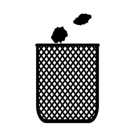 Office trash can icon isolated on white background