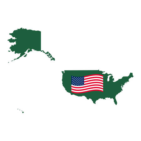 USA map vector isolated on white background