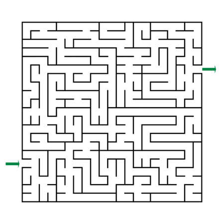 Vector maze labyrinth on white background