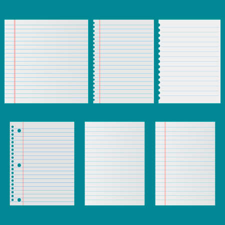 Notebook paper set vector icon Ilustrace